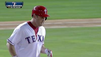 Rangers rest Berkman for second straight game