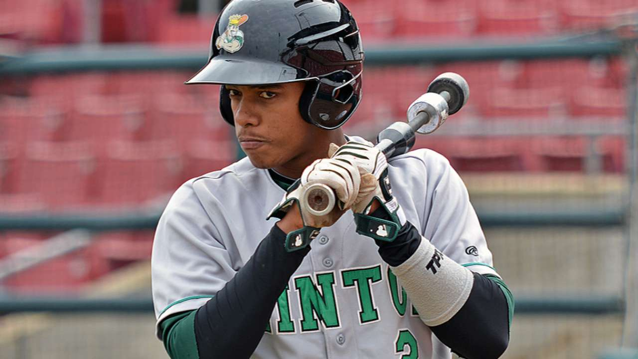 Young prospect Marte gets his shot