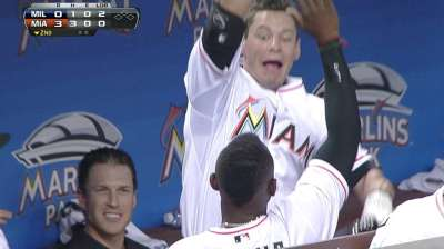 Marlins' homers coming from rare source