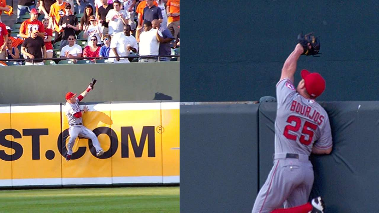 Trout fondly recalls catch to rob O's Hardy