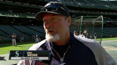 Zunino makes Major League debut against Astros