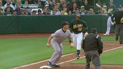 A's keep recovering Cespedes, Crisp out of lineup