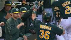 Norris' four RBIs lead A's past Yankees