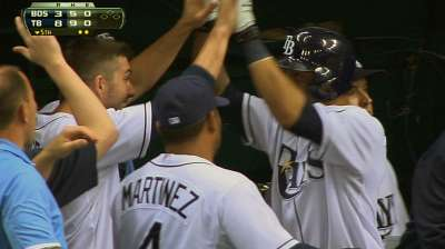 Rays come out swinging, hit four homers vs. Red Sox