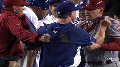MLB disciplines D-backs, Dodgers for fracas