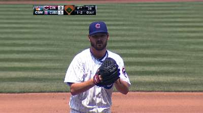 Wood doesn't allow hit until fifth, but Cubs lose