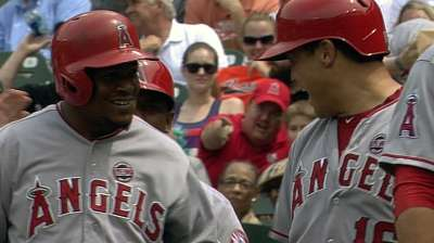 Six-run seventh helps Angels snap skid