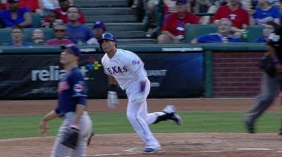 Struggles continue for Rangers bats in loss vs. Tribe