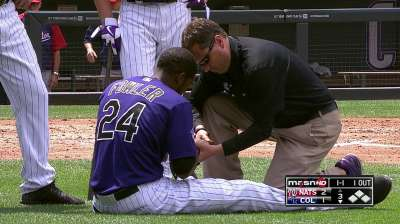 Rox scratch Fowler from lineup due to hand injury