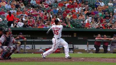 Orioles option Valencia to Triple-A Norfolk