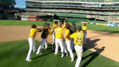A's walk off in 18th for 11th straight home win