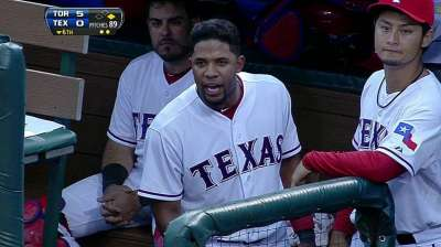 Andrus ejected for disputing third strike call