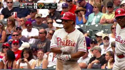 Revere securing hold on Phils' leadoff spot