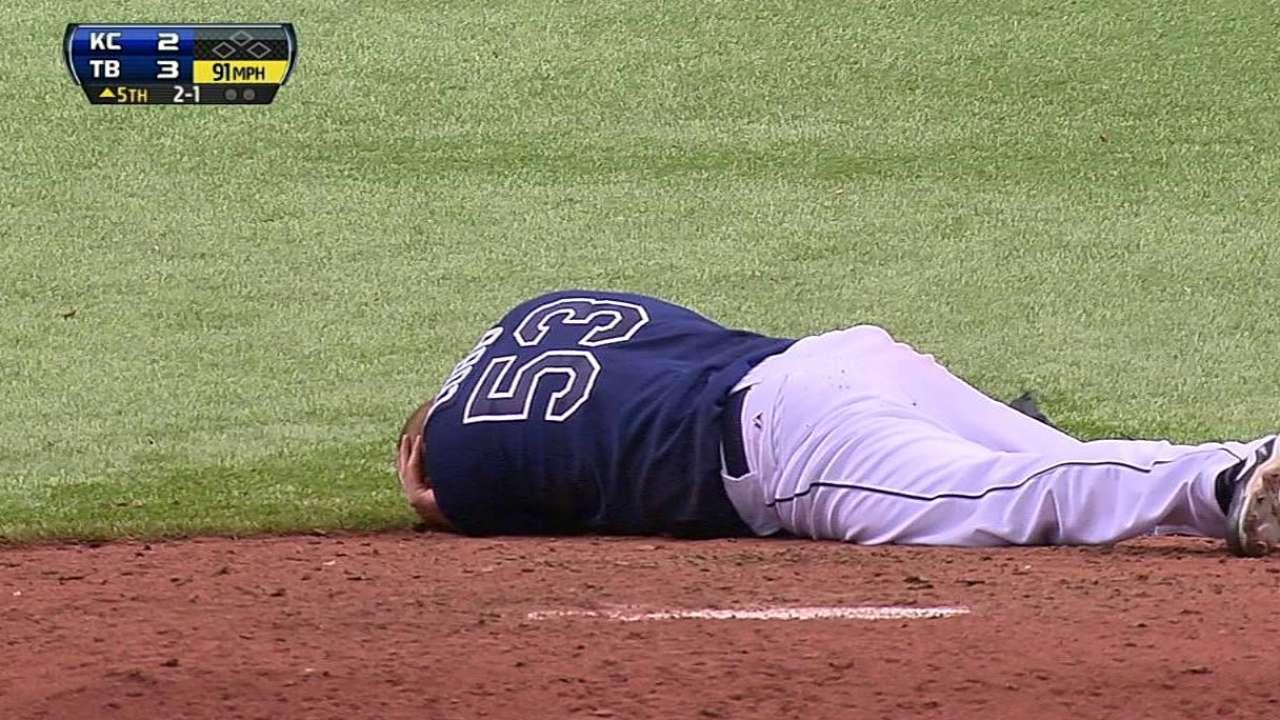 Cobb leaves on stretcher