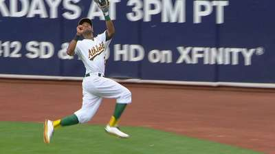 Young leads off again while Crisp, Jaso rest