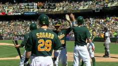 A's slug away to back Colon's sixth straight win