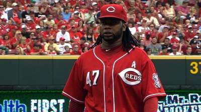 Cueto forgoes MRI, begins light throwing