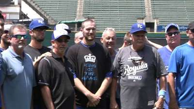 Batting practice session big hit with KC dads