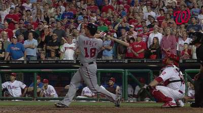 Tracy's heroics short-lived as Nats fall to Phils