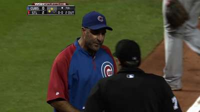 Sveum ejected from opener against Cards