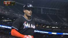 Stanton's two blasts propel Marlins in desert