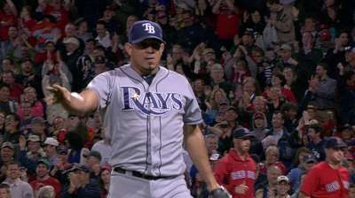 Johnson hits game-tying homer, but Rays fall in ninth
