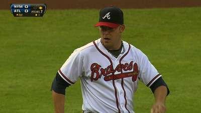 Braves can't solve Harvey, Wheeler in doubleheader