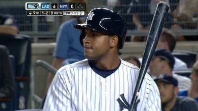 Almonte thrilled with first at-bat as a Yankee