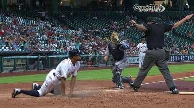 Astros option M. Gonzalez, designate LeBlanc