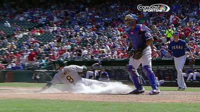 A's rally comes up short in finale vs. Rangers