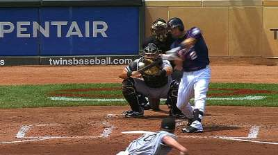Four homers lift Twins to first series sweep