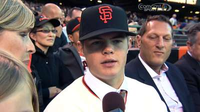 Giants' first-rounder Arroyo pays visit