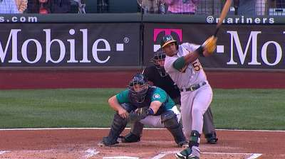 Running fine, Cespedes returns to left field