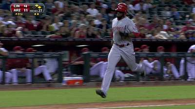 For first time, Mesoraco behind plate for Cueto