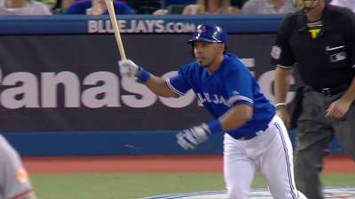 Bautista's homer pushes Blue Jays' win streak to 10