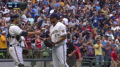 Sizzling K-Rod back in closer role for Brewers