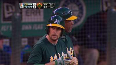 Pitchers struggle early, late for A's in Seattle
