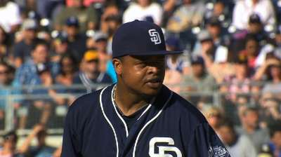 Flirting with no-no, Volquez, Padres falter in sixth