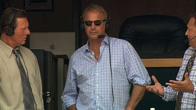 Actor Costner visits Tribe, Progressive Field