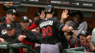 Marlins try to keep hot-hitting Ruggiano fresh
