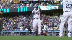 Puig the hero in first rivalry game vs. Giants