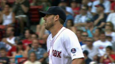 Striking point: Lackey fans 12 to lift Red Sox