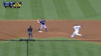 Bullpen gets job done as Rangers hold off Yanks