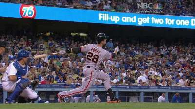 Reigning NL MVP Posey earns Player of Week honors