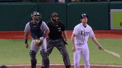 Myers hits third for Rays with Longo sidelined