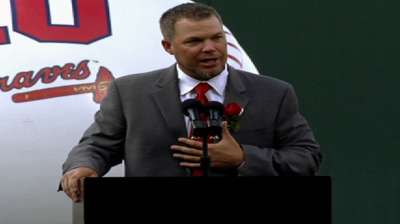 Chipper in awe of honors bestowed by Braves