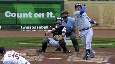 Butler matches Bo's homer total with Royals