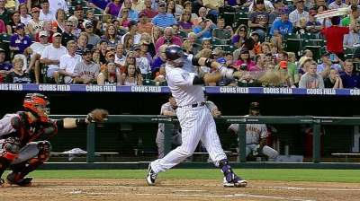 Cuddyer extends hit streak to 25 with homer