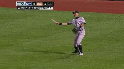 CC loses no-hitter, Yanks lose opener to O's