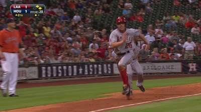 Nursing sore thumb, Bourjos scores go-ahead run